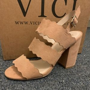 Blush Pink Scalloped Heel- VICI Collection